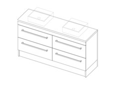 Riva Classic CP 1500 Floor Double - 4 Drawer