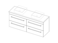 Riva Classic CP 1500 Wall Double - 4 Drawer