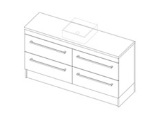 Riva Classic CP 1500 Floor - 4 Drawer