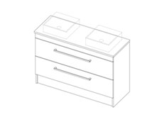 Riva Classic CP 1200 Floor Double - 2 Drawer
