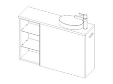 MB CP 800 Wall Right + Shelf