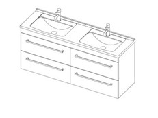 Riva Classic 1500 Wall Double - 4 Drawer