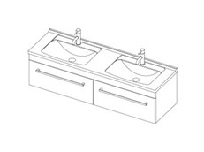 Riva Classic 1500 Wall Double - 2 Drawer
