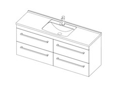 Riva Classic 1500 Wall - 4 Drawer