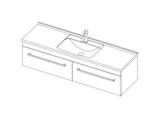 Riva Classic 1500 Wall - 2 Drawer