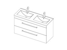 Riva Classic 1200 Wall Double - 2 Drawer