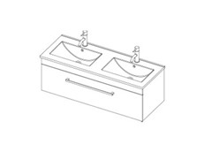 Riva Classic 1200 Wall Double - 1 Drawer