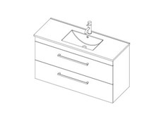 Riva Classic 1200 Wall - 2 Drawer