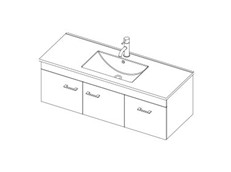 Riva 1200 Wall - 2 Door 1 Drawer