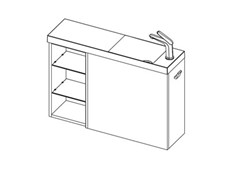 MB 800 Wall Right (1 Door + Shelf) - 1 Door