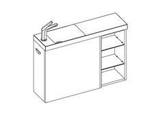 MB 800 Wall Left (1 Door + Shelf) - 1 Door