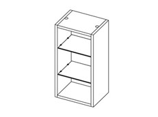 MB Vertical Storage - with Glass Shelves