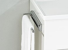 Pull-out Chrome Towel Rail