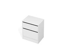 City 50 700 Floor - 2 Drawer