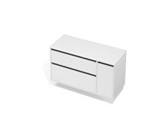 City 50 - 1200 Wall - 1 Door 2 Drawer