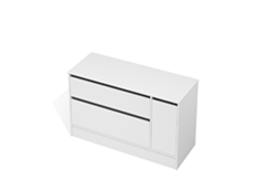City 50 - 1300 Floor - 1 Door 2 Drawer