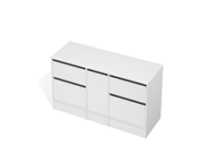 City 50 - 1400 Floor - 1 Door 4 Drawer