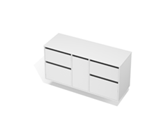 City 50 - 1400 Wall - 1 Door 4 Drawer