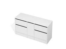 City 50 - 1500 Floor - 1 Door 4 Drawer