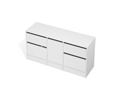 City 50 - 1600 Floor - 1 Door 4 Drawer