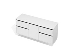 City 50 - 1600 Wall - 1 Door 4 Drawer