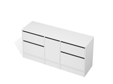 City 50 - 1700 Floor - 1 Door 4 Drawer