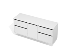 City 50 - 1700 Wall - 1 Door 4 Drawer