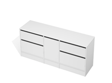 City 50 - 1800 Floor - 1 Door 4 Drawer