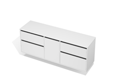 City 50 - 1800 Wall - 1 Door 4 Drawer