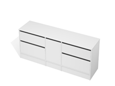 City 50 - 1900 Floor - 1 Door 4 Drawer