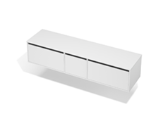 City 50 - 1900 Wall - 1 Door 2 Drawer