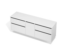 City 50 - 1900 Wall - 1 Door 4 Drawer