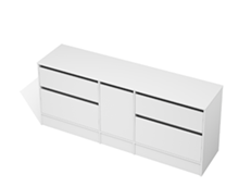 City 50 - 2000 Floor - 1 Door 4 Drawer