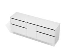 City 50 - 2000 Wall - 1 Door 4 Drawer