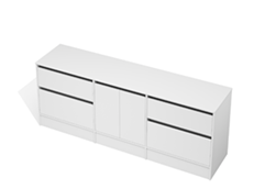 City 50 - 2100 Floor - 2 Door 4 Drawer