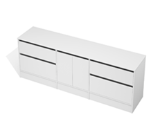 City 50 - 2200 Floor - 2 Door 4 Drawer