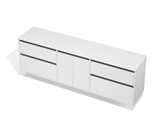 City 50 - 2200 Wall - 2 Door 4 Drawer