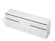 City 50 - 2300 Floor - 2 Door 4 Drawer