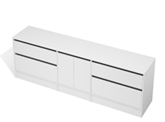 City 50 - 2400 Floor - 2 Door 4 Drawer