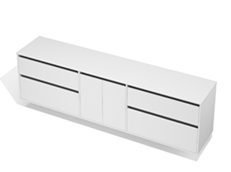City 50 - 2400 Wall - 2 Door 4 Drawer