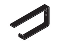 Toilet Paper / Towel Rail - Black