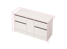 City 50 Wall to Wall 1401-1500 Floor - 1 Door 4 Drawer
