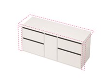 City 50 Wall to Wall 1501-1600 Wall - 1 Door 4 Drawer