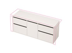 City 50 Wall to Wall 1601-1700 Wall - 1 Door 4 Drawer