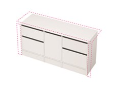 City 50 Wall to Wall 1601-1700 Floor - 1 Door 4 Drawer