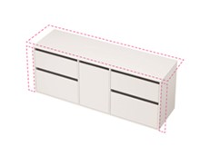 City 50 Wall to Wall 1701-1800 Wall - 1 Door 4 Drawer