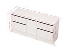 City 50 Wall to Wall 1701-1800 Floor - 1 Door 4 Drawer