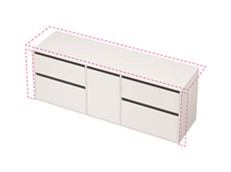 City 50 Wall to Wall 1801-1900 Wall - 1 Door 4 Drawer