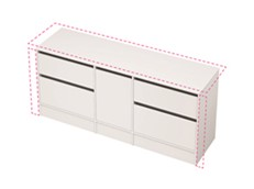 City 50 Wall to Wall 1801-1900 Floor - 1 Door 4 Drawer