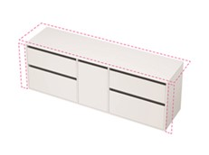 City 50 Wall to Wall 1901-2000 Wall - 1 Door 4 Drawer